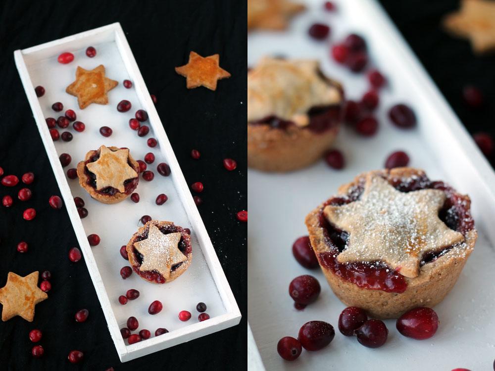 Weihnachts-Tartelettes-mit-Preiselbeeren-und-Sternen