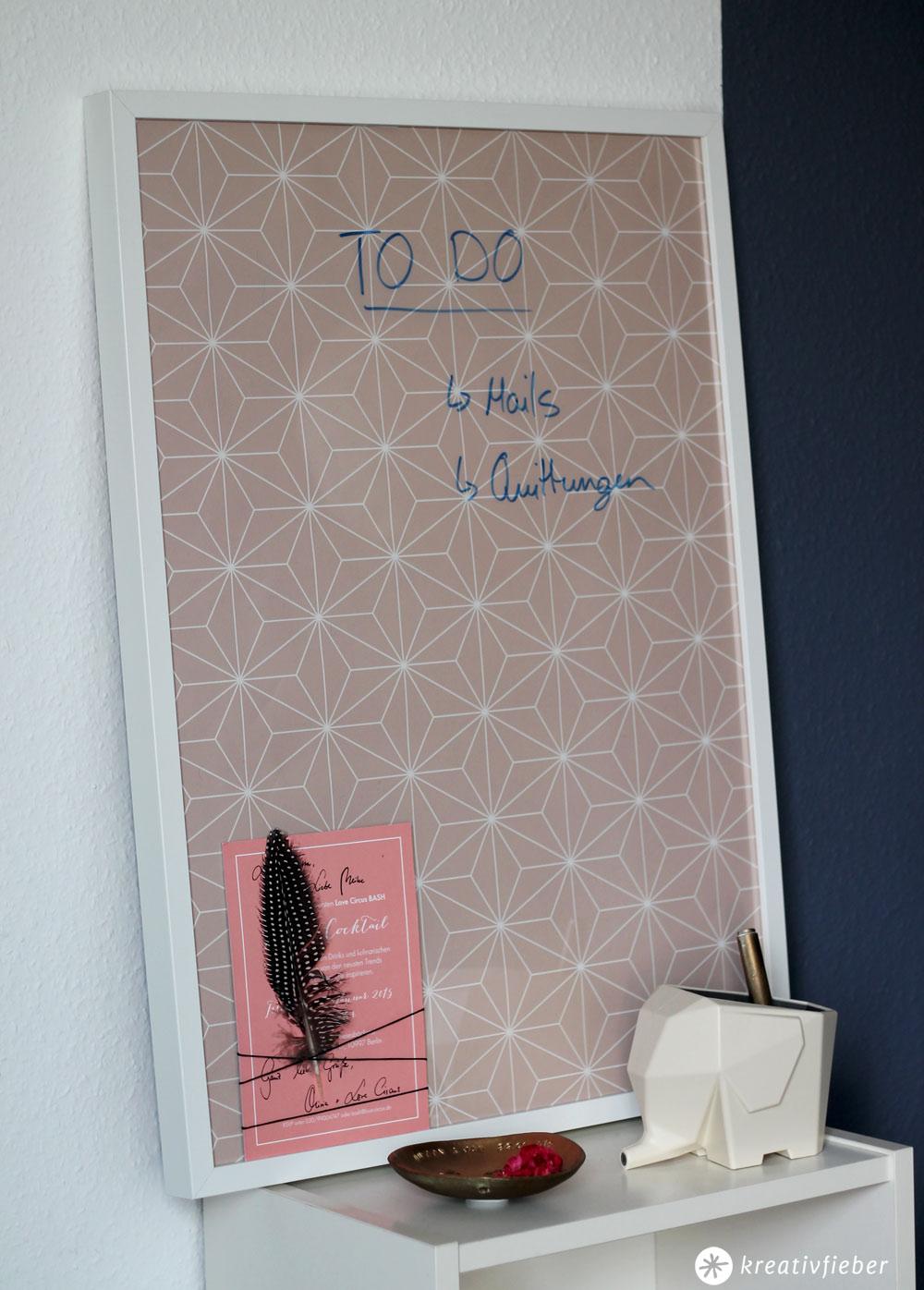 DIY Whiteboard Alternative - einfach und schön