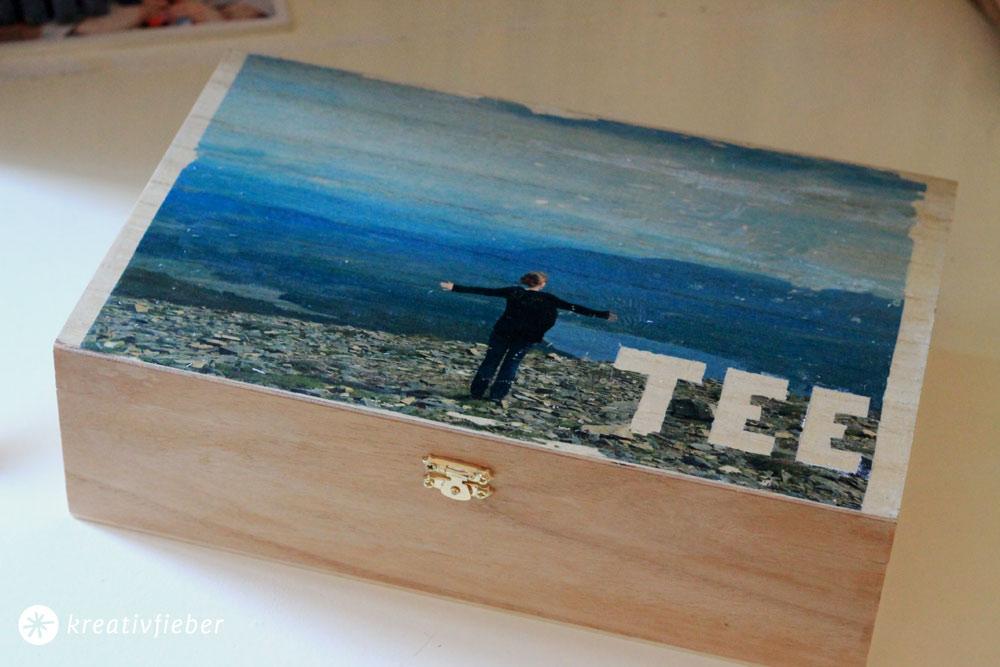 Basteln mit Fotos - Holztransfer
