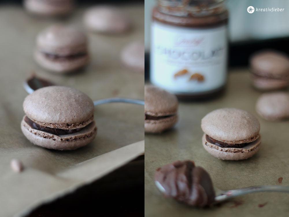 Schokoladen-Macarons-mit-Milchschokoladencreme-oder-Nutella