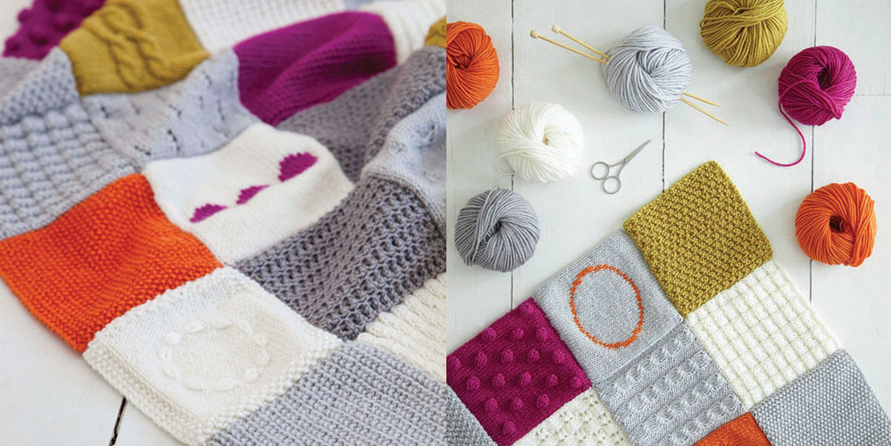 Simple-Stylish-Stricken-Strickanleitungen-Patchworkdecke