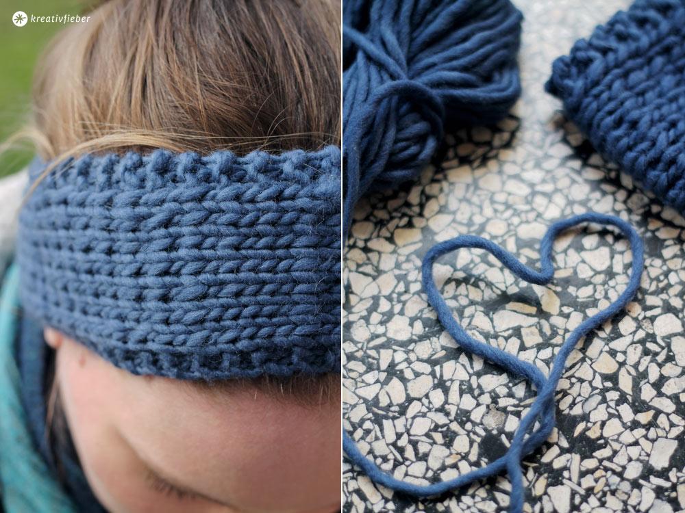 Stirnband-schnell-stricken-mit-Filzwolle