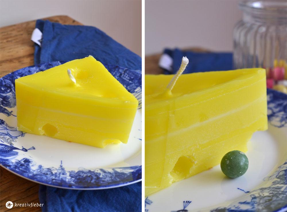 Kerzen gießen Käse