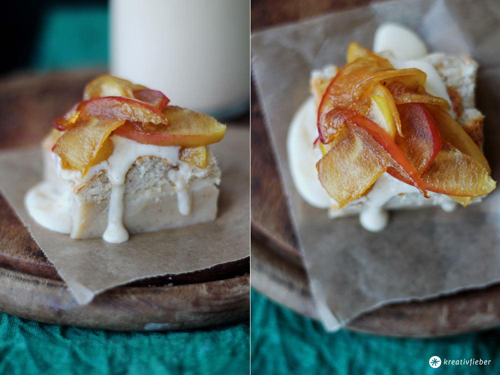Magic-Cake---ein-Teig---drei-Schichten---mit-karamellisierten-Äpfeln