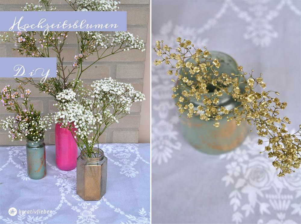 Blumendeko diy für die Hochzeit selbermachen