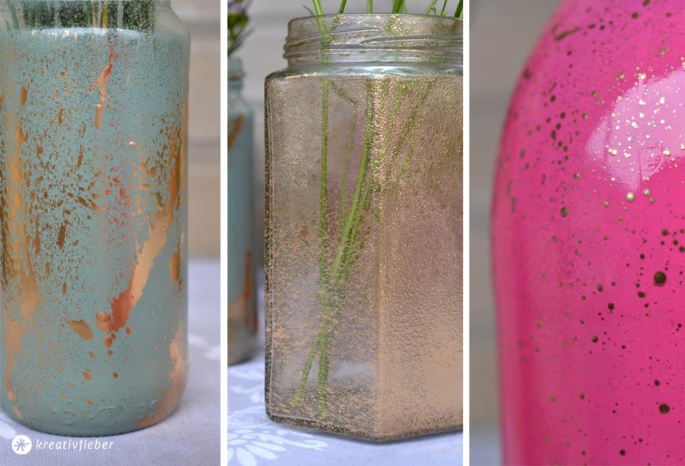 Vasen upcycling ansprühen