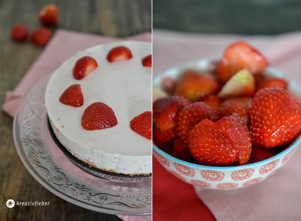 Erdbeer Mascarpone Torte Biskuit