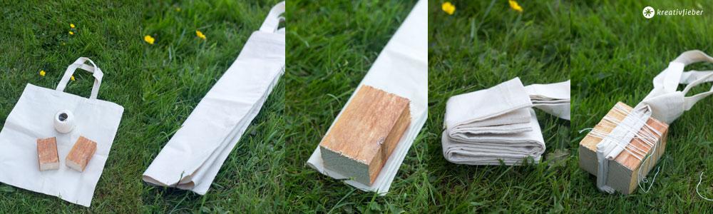 Shibori-Batik-Geschirrtuch-binden-Schritt-für-Schritt