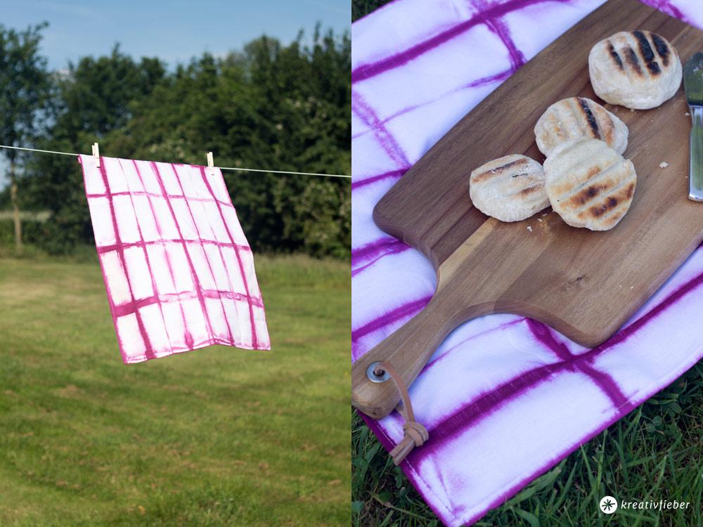 Shibori-Batik-Geschirrtuch-färben-DIY-Anleitung-grid-Streifenmuster-batiken