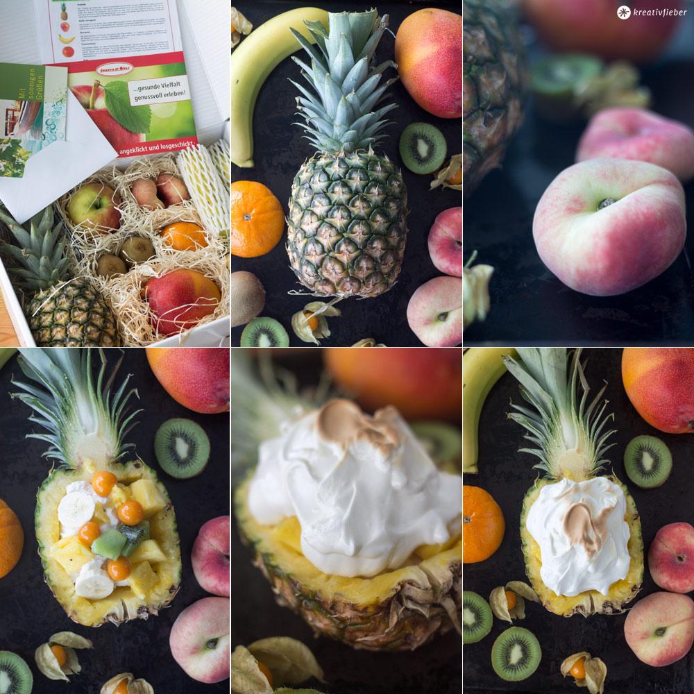 Ananas-Eisbombe-mit-Früchten,-Eis-und-Baiser