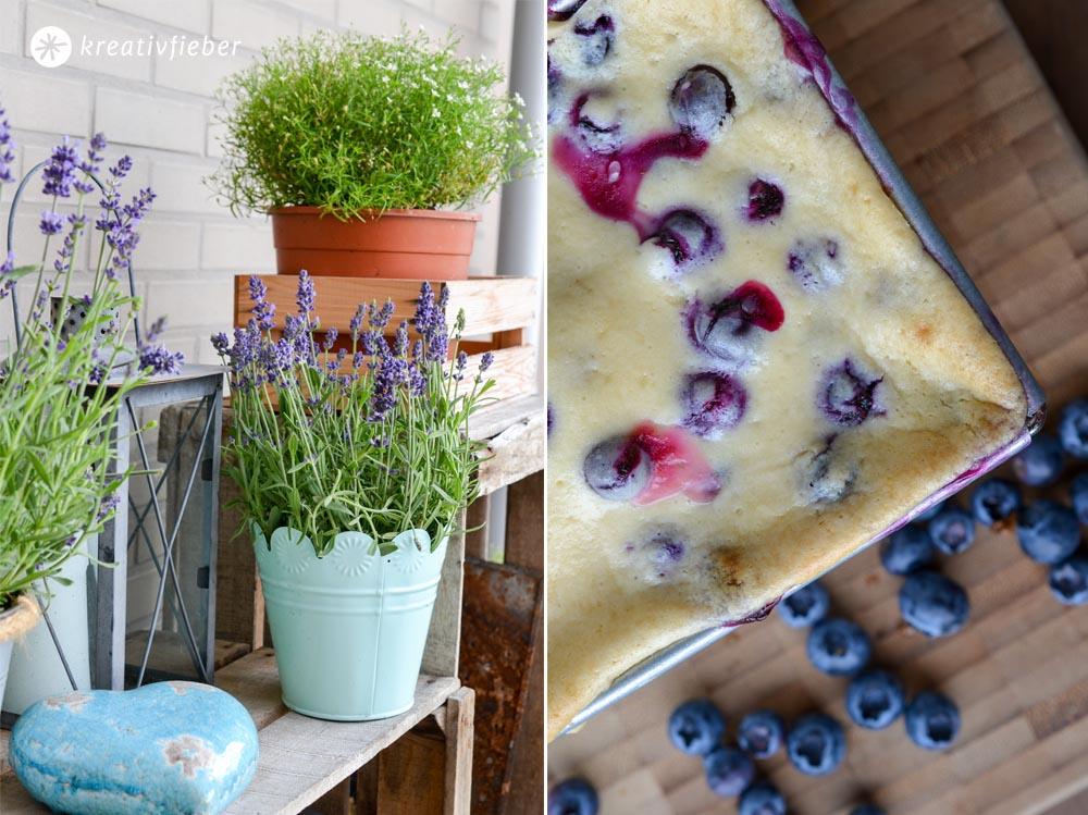 Zitronen Kuchen Blaubeeren