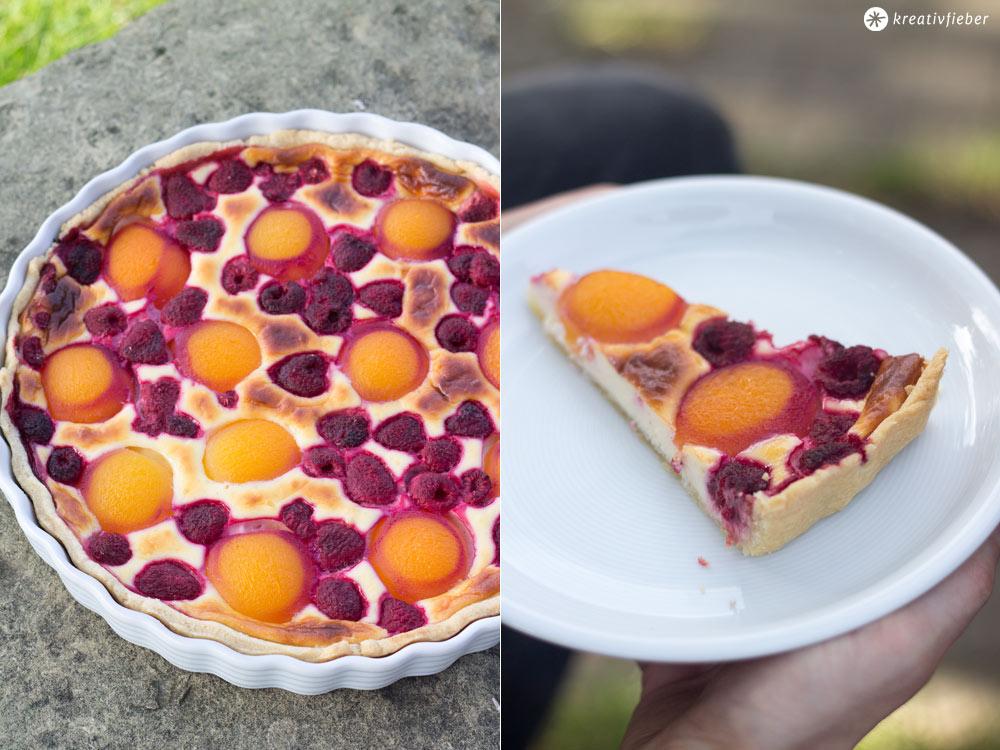 Aprikosen-Himbeer-Tarte-mit-Mascapone-und-Frischkäse-sommerliche-Tarte