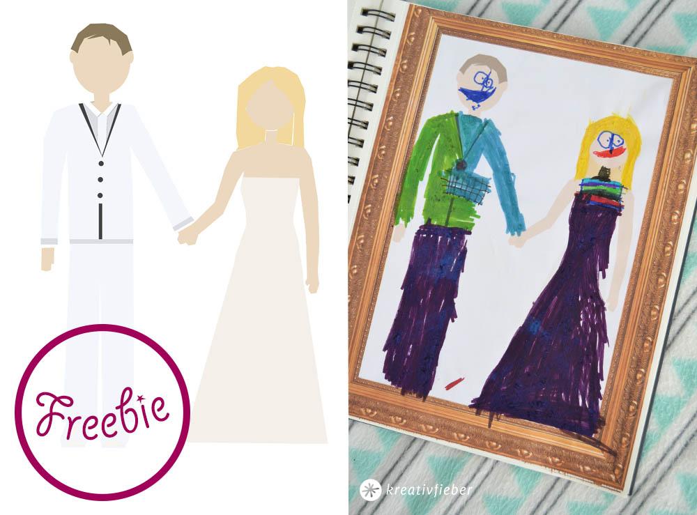 Printable: Malvorlagen für Hochzeiten