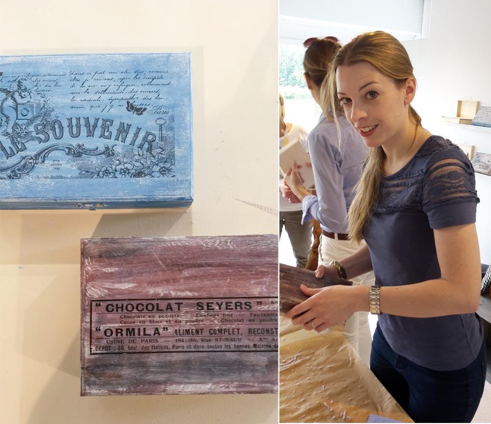 Workshop Foto Transfer auf Holz - Fotos einfach auf Holz transferieren - Holzkistchen Geschenkidee