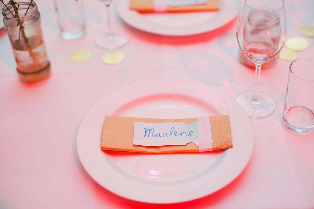 Hochzeitstischdeko Platzkarten