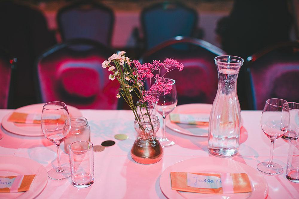 Tischdeko selbermachen Hochzeit