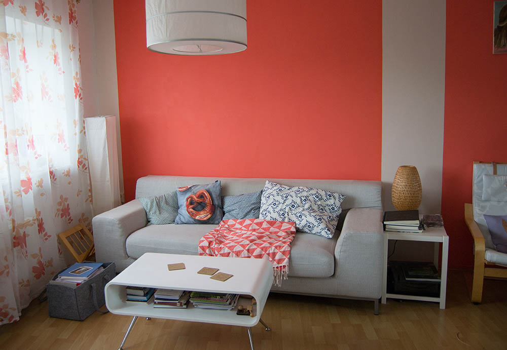 wohnzimmer rot orange:und hier ist das vorher nachher bild meines wohnzimmers
