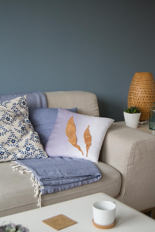 gemütlich stylen blaue Wandkarte