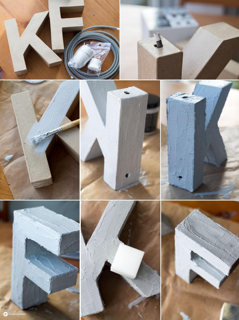 Buchstabenleuchte-mit-Textilkabel-und-Betoneffekt-Schritt-für-Schritt-Anleitung