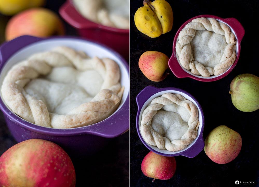 Gedeckte-Apfel-Quitten-Küchlein-mit-Mürbeteig---Einfaches-Rezept