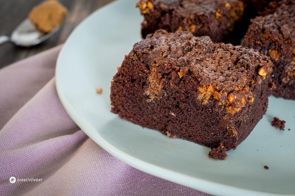 rezept salted caramel erdnussbutter brownies