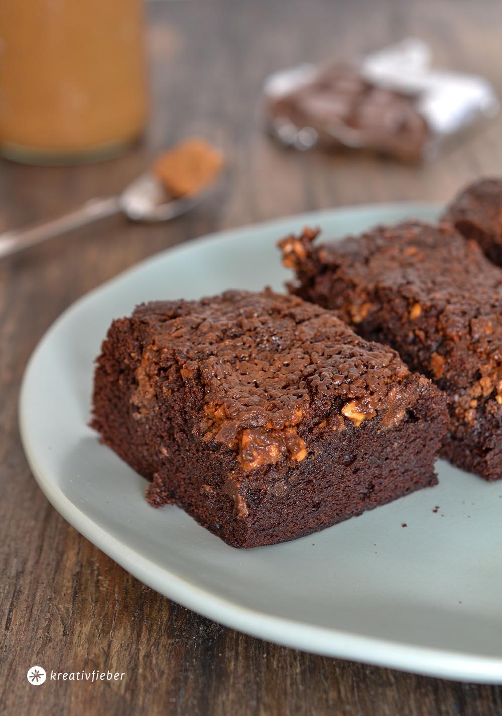 Salted Caramel Peanut Butter Brownies