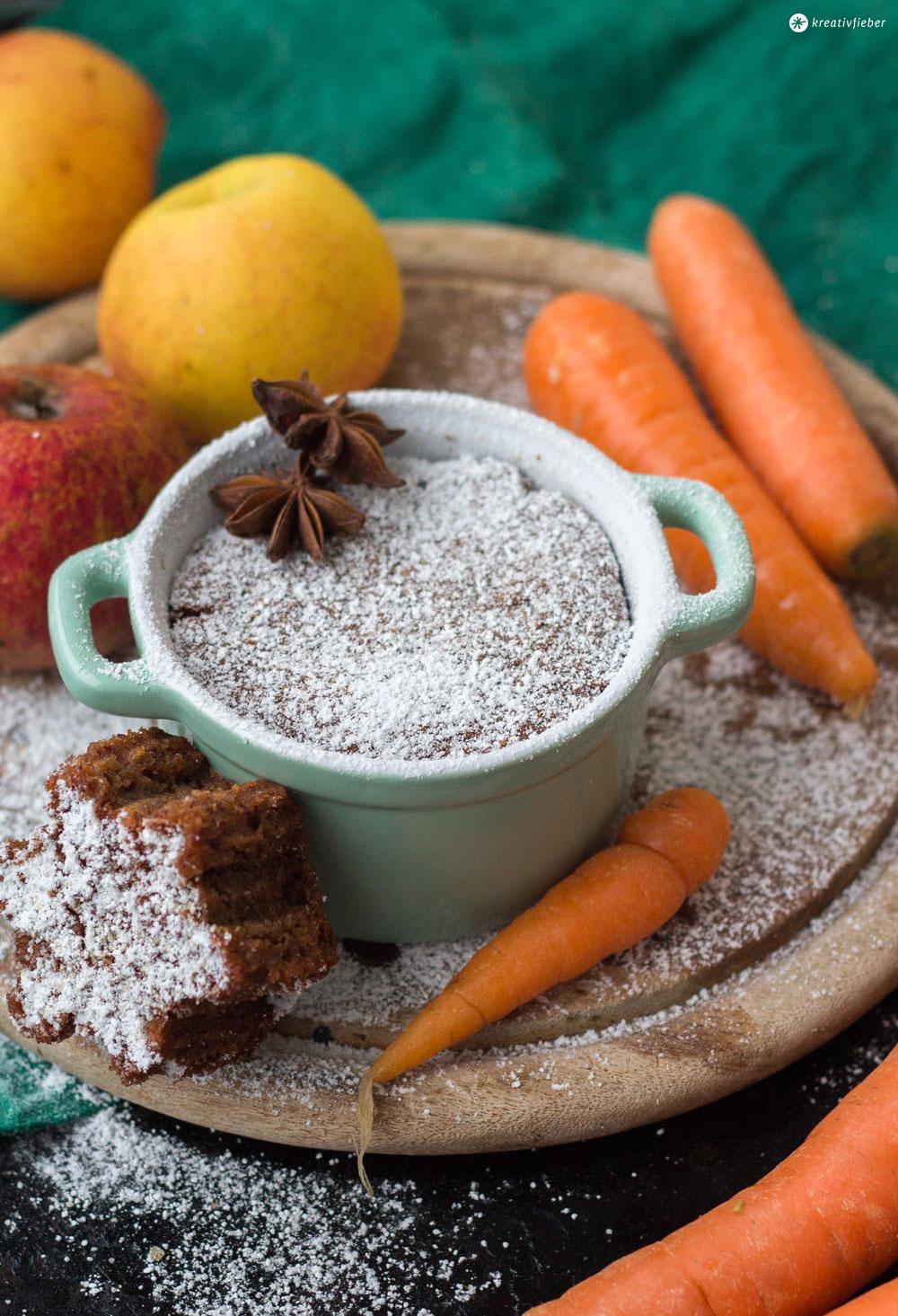 Apfel-Karotten-Gewürzkuchen-Weihnachsrezeptidee