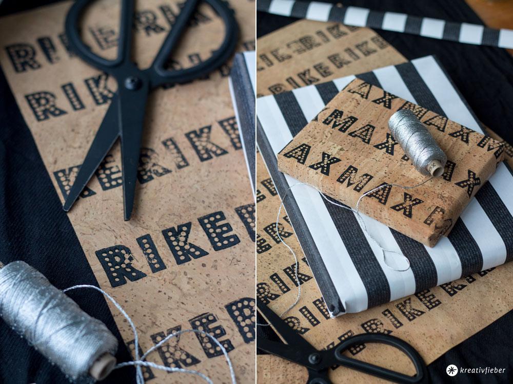 DIY-Geschenke-verpacken-mit-Kork-Tutorial---DIY-Korkgeschenkpapier-mit-Buchstaben