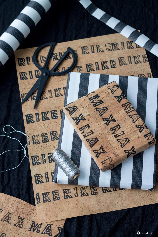 geschenke verpacken mit kork. Black Bedroom Furniture Sets. Home Design Ideas