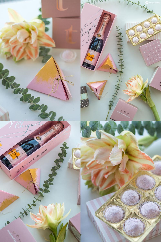 Dreieckige-Geschenkschachtel-falten---Tender-Touch-blush-and-gold---kleines-Gastgeschenk