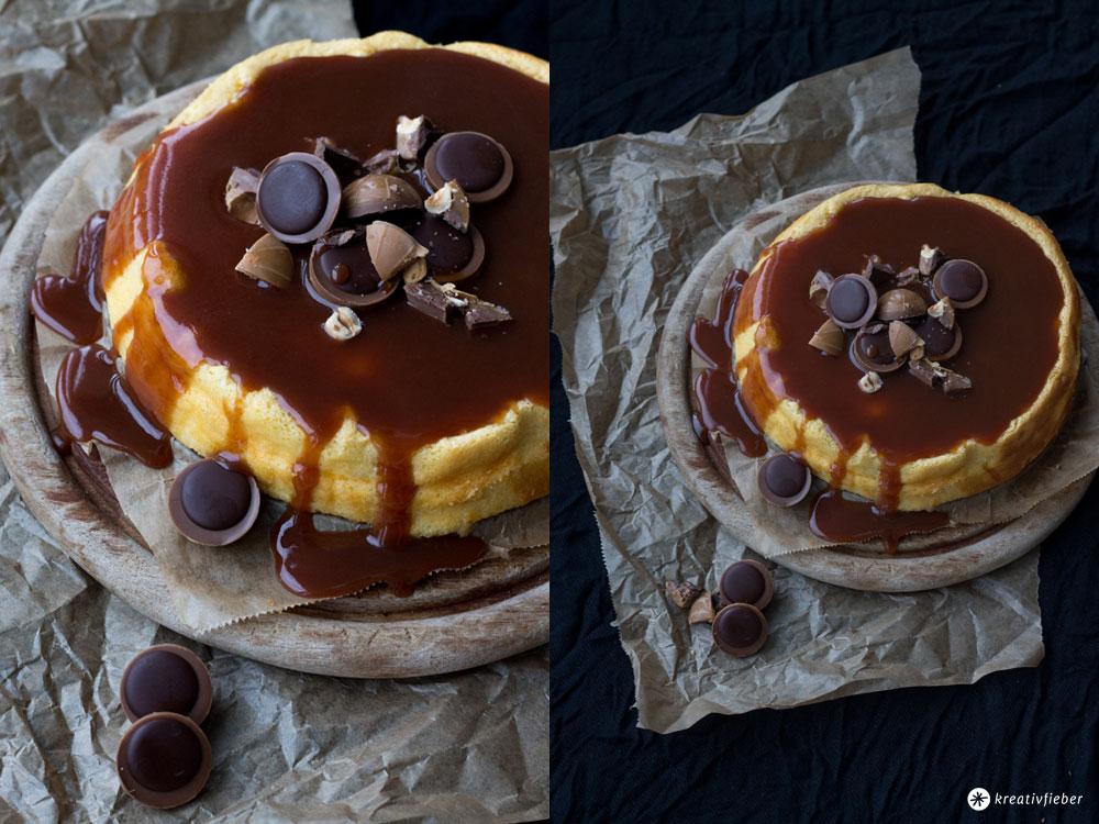 Einfacher-Cheesecake-mit-Karamell-und-Toffifee---Rezeptideen