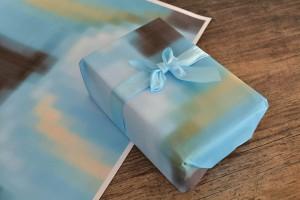 DIY Geschenkpapier Pixelpapier Verpacken