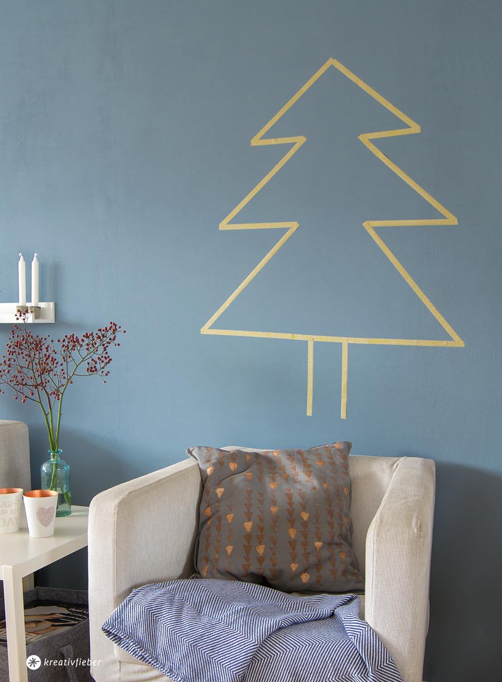 Maskingtape Weihnachtsbaum Kopie