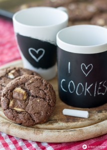 Schoko-Kinderriegel-Cookies-Rezept