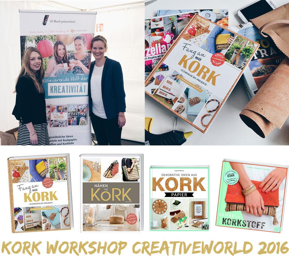 Kork Workshop Creativeworld 2016 - Jutta Handrup und Maike Hedder - Kreativfieber - Fang an mit Kork