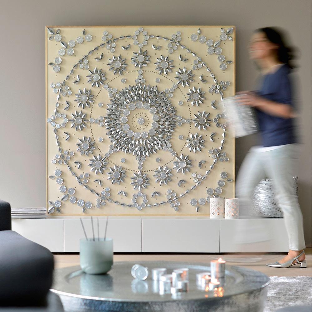 Mandala Aus Teelichtern Upcycling Buchtipp Heimwerk Kreativfieber