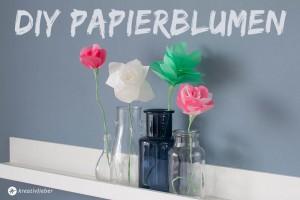diy papierblumen Selbermachen Schritt für schritt