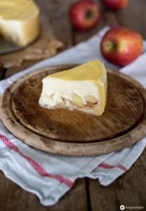 Apfel Marzipan Cheesecake - leckere Käsekuchen Rezeptideen