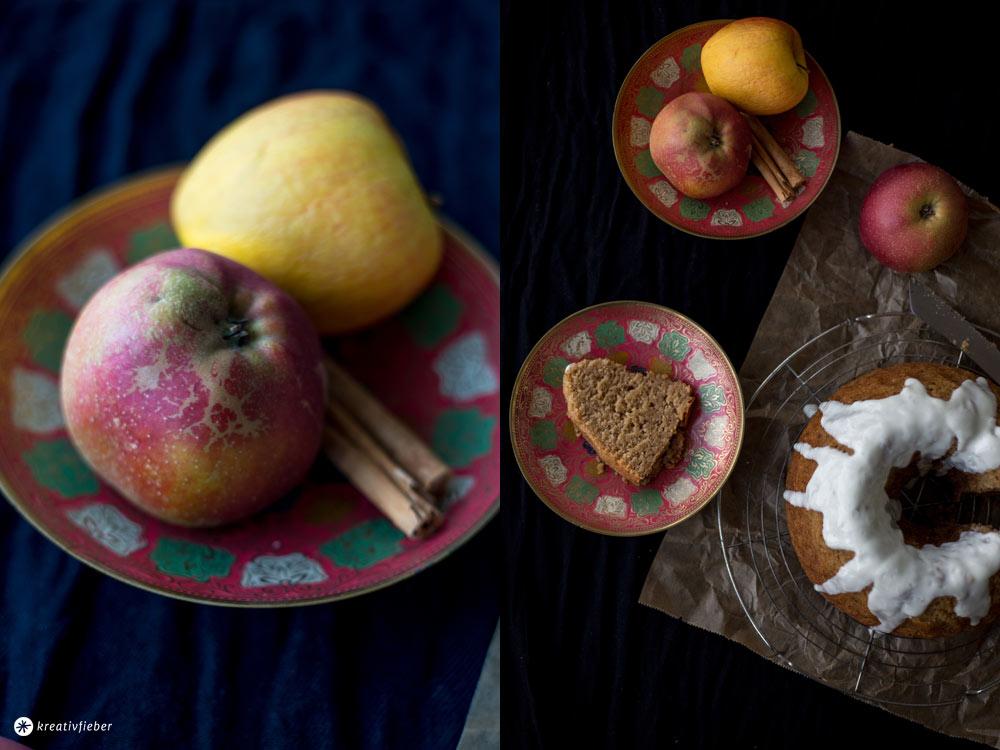 Apfelmus-Haselnuss-Guglhupf-mit-Joghurt---einfaches-Rührkuchen-Rezept