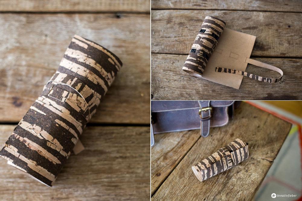 DIY Kabelrolle aus Kork selbermachen - ohne nähen - Schritt für Schritt Anleitung - Kreativfieber - Geschenkideen