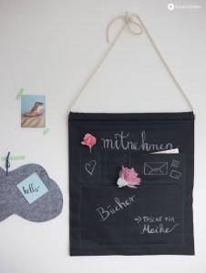 DIY Utensilo aus Tafelstoff - Stoff zum Beschriften mit Kreide