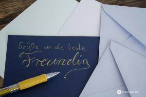handlettering handgeschriebene grüße