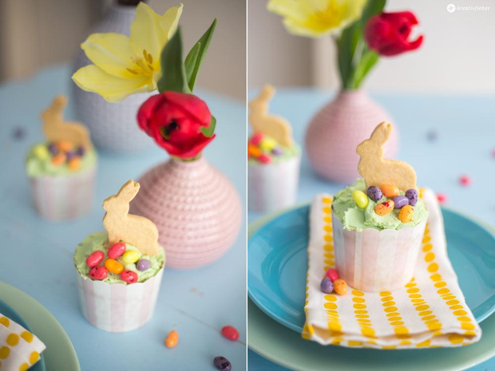 Hasen Cupcakes für Ostern - Rezeptidee für Ostern