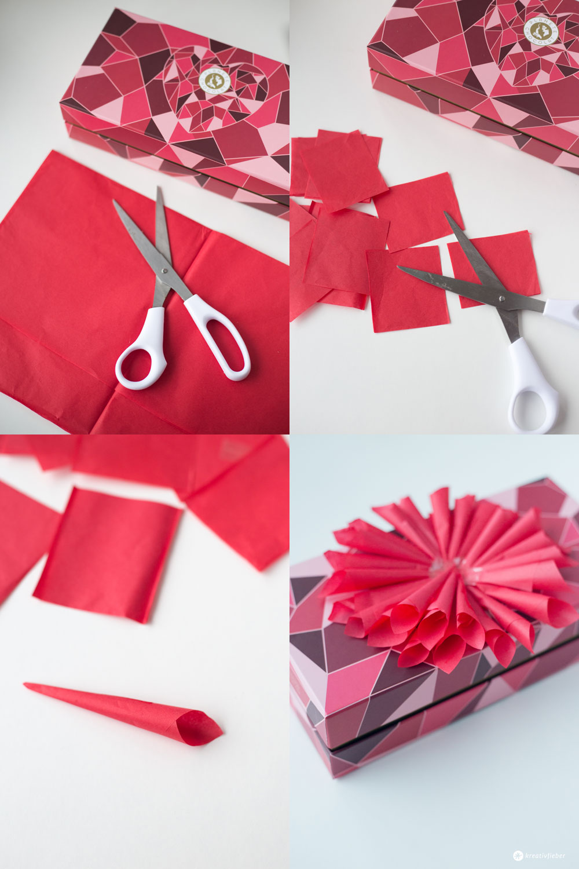 Pralinenschachtel-Upcycling---Blüte-aus-Seidenpapier-selbermachen