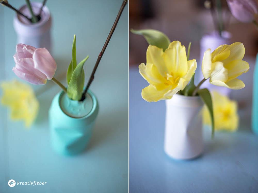 Vase aus Bierdose die
