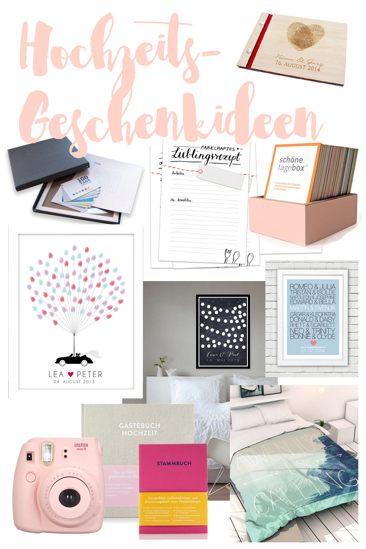 10 Hochzeitsgeschenkideen - individualisierbar, persönlich und super mit DIY Ideen zu kombinieren.