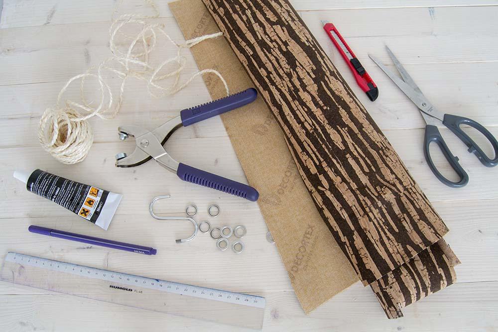 Material Pflanzenaufhänger aus Kork