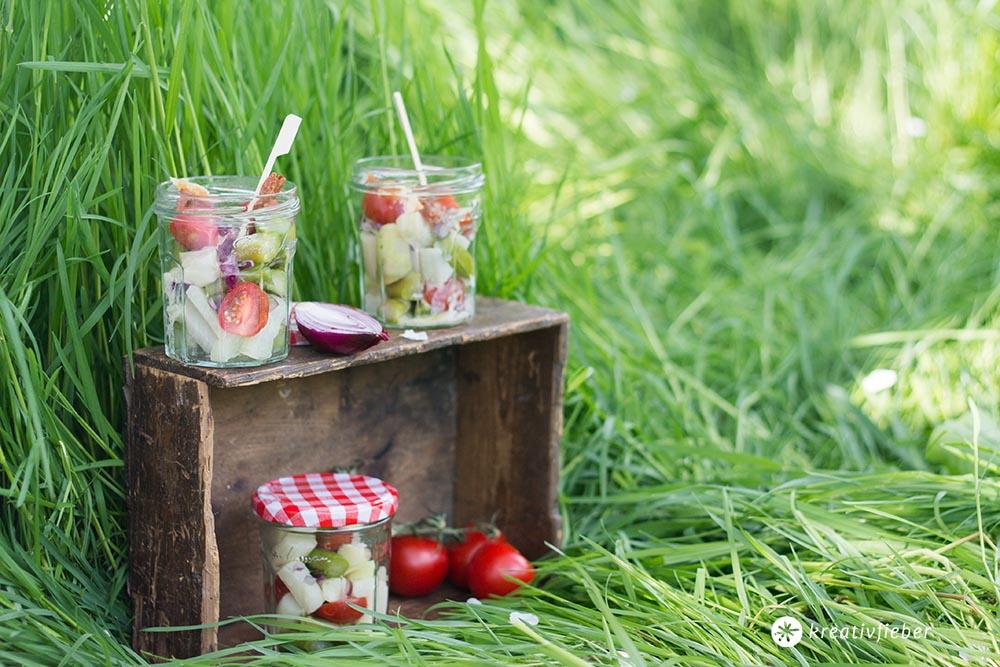 Picknickrezepte Spargelsalat mit Kohlrabi