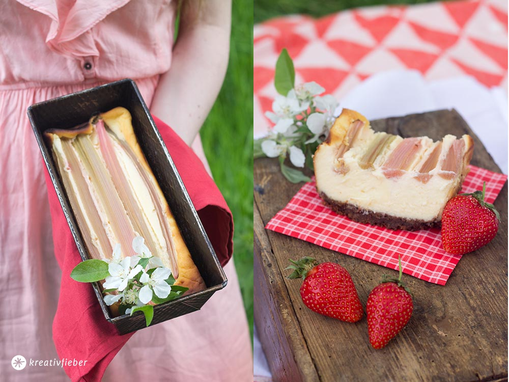 Rhabarber Cheesecake to go Rezept Picknick