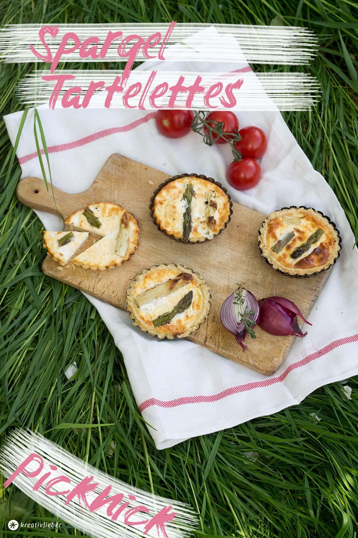 picknickrezente herzhaftes mit Spargel